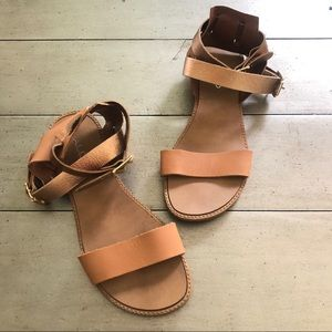 Aldo Made in Italy Rose Gold/Tan Sandals Size 37